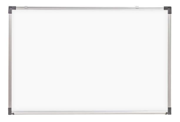Escola quadro branco ou bordo isoladas no branco - foto de acervo