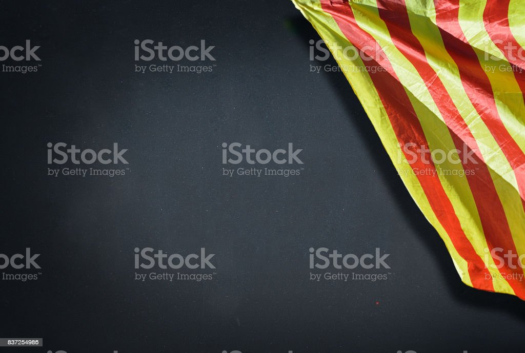 School with flag stock photo