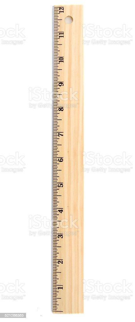 School wooden ruler stock photo