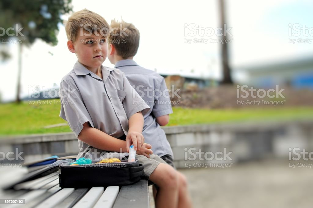 School yard food allergies stock photo