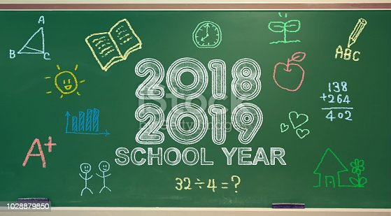 istock School year 2018-2019 on a chalkboard 1028879850