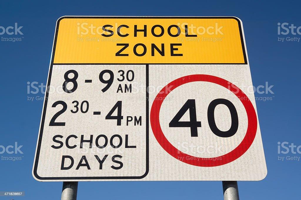 School Zone in Australia stock photo
