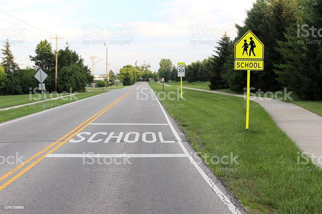 School Zone stock photo