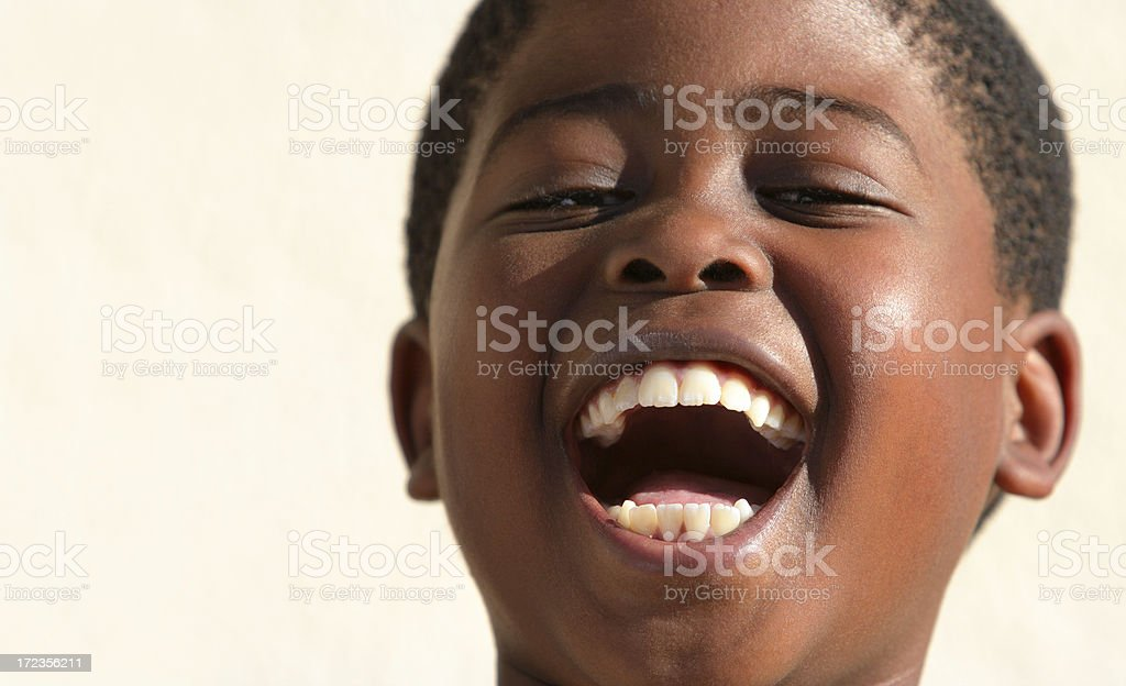 Schoolboy Laughing Copyspace royalty-free stock photo