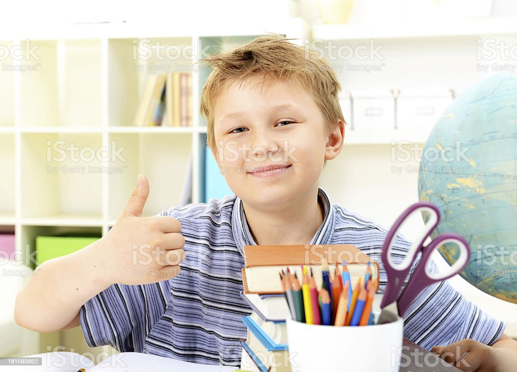schoolboy royalty-free stock photo