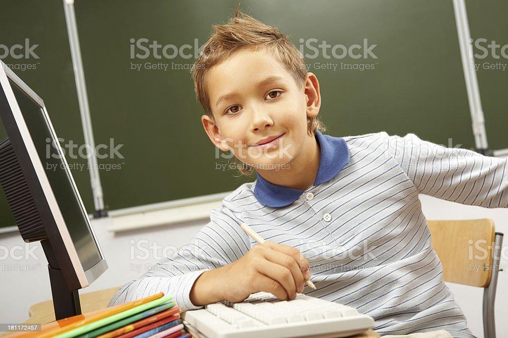 Schoolboy royalty-free stock photo