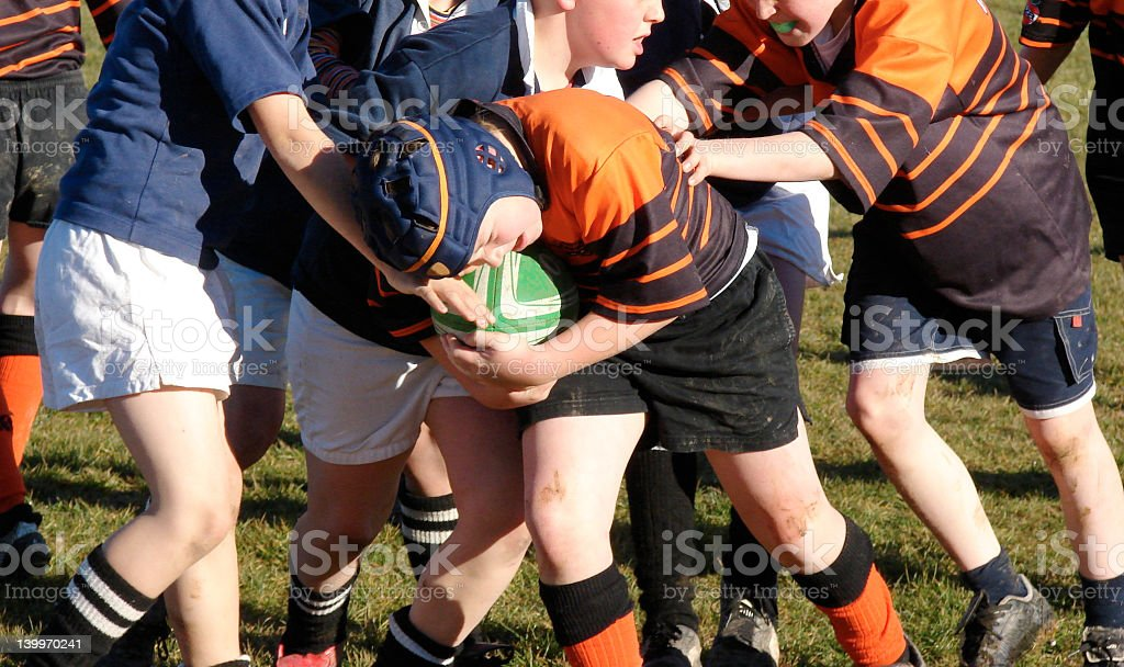 Schoolboy rugby / football stock photo