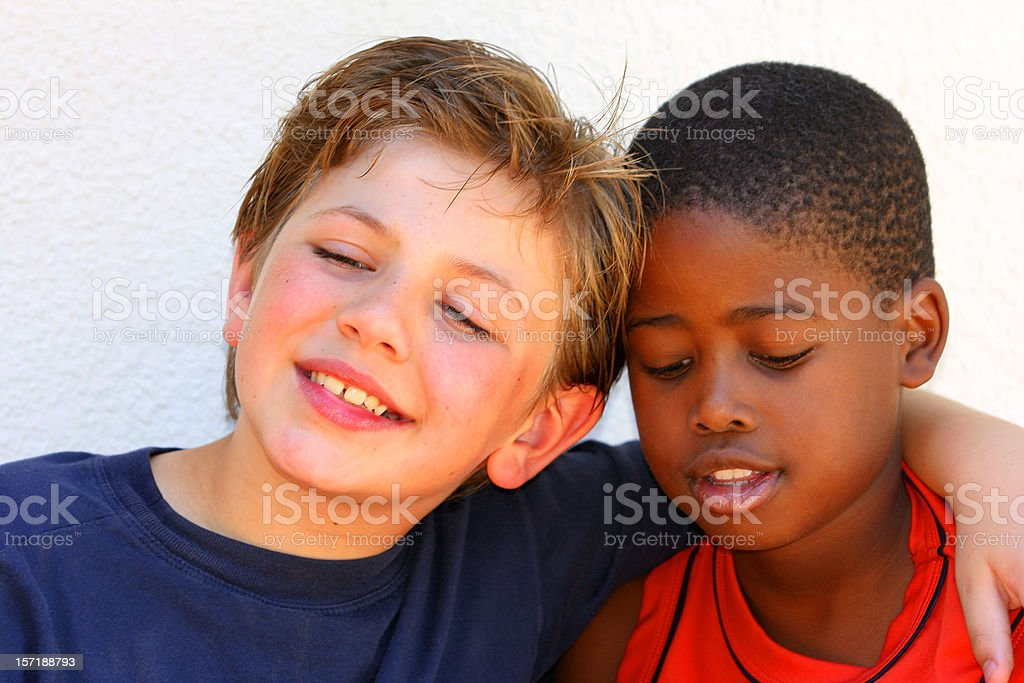 Schoolboys Best of Friends royalty-free stock photo