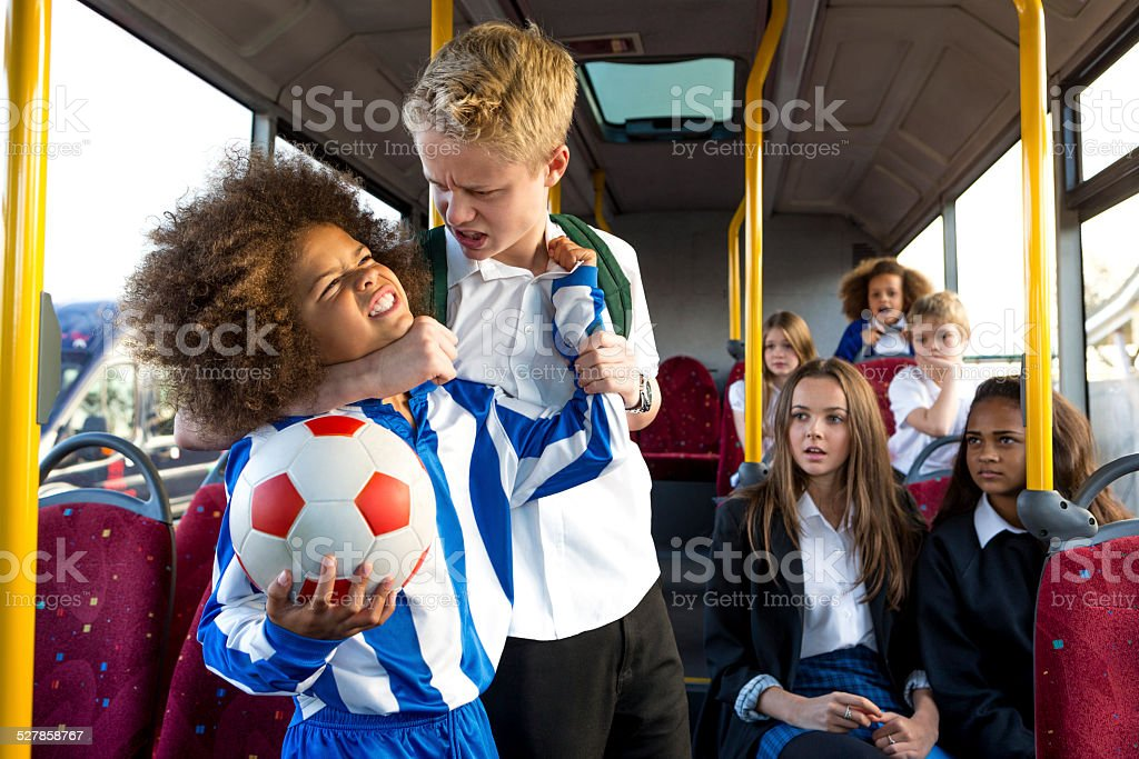 Schoolbus Bully stock photo