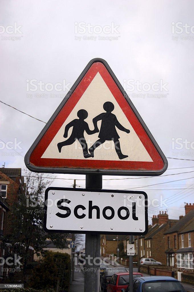 School-children crossing royalty-free stock photo