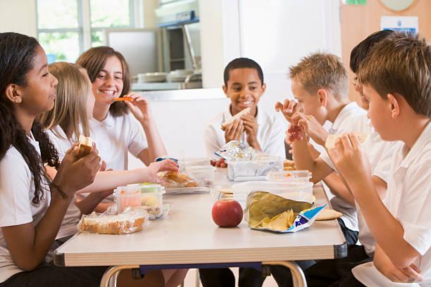 Schoolchildren enjoying their lunch in a school cafeteria picture id125557153?b=1&k=6&m=125557153&s=612x612&w=0&h=ufqcc3lw4gr3x9wb9tgncrfrxozy t75vdthiayqrvi=