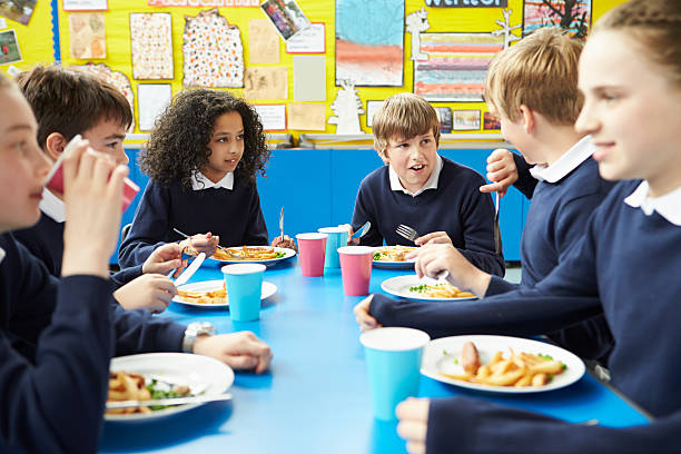 Schoolchildren sitting at table eating cooked lunch picture id468138225?b=1&k=6&m=468138225&s=612x612&w=0&h=ywgxh0myb4ik8bkd2ehkdctbw70ypil4dwaxzfgells=