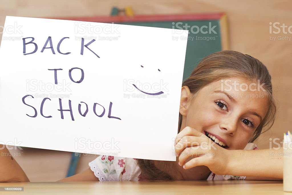 여학생 있는 clasroom-back to school royalty-free 스톡 사진