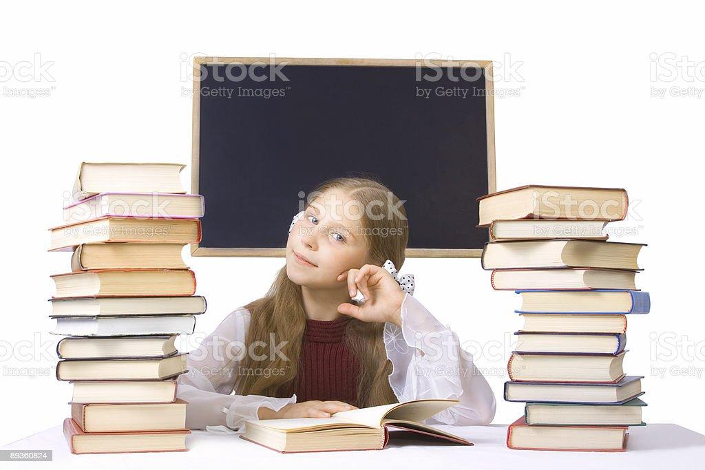 schoolgirl royalty free stockfoto