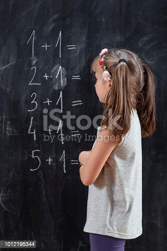 istock Schoolgirl practising summation 1012195344