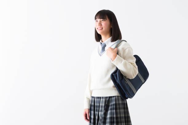 ランドセルの女子高生 - 制服 ストックフォトと画像