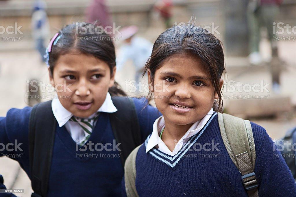 Schoolgirls royalty-free stock photo