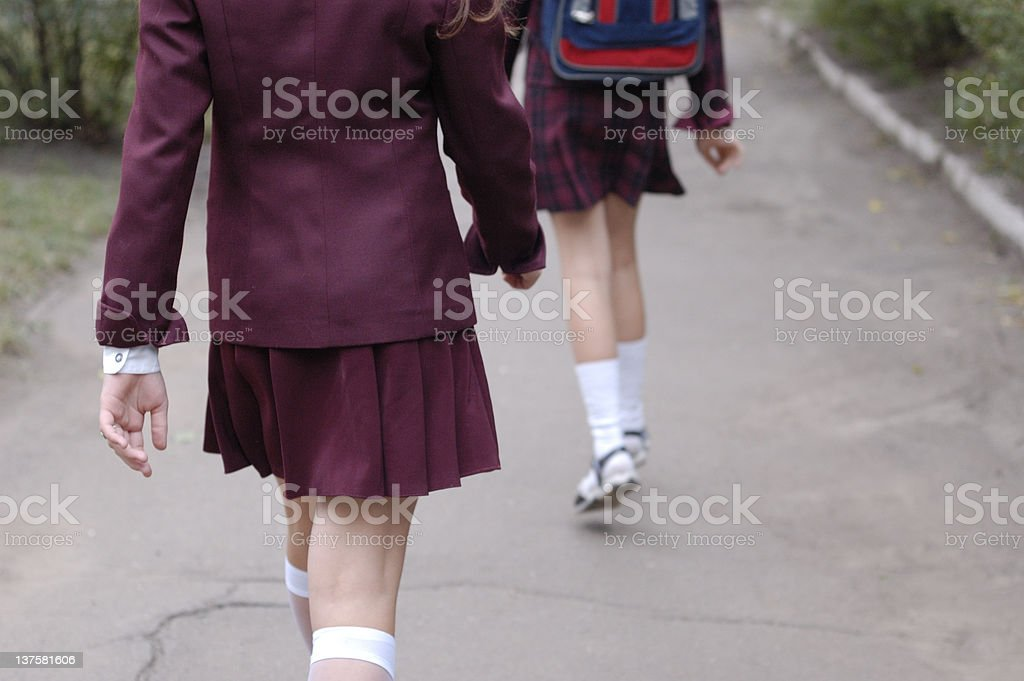 schoolgirls2 stock photo