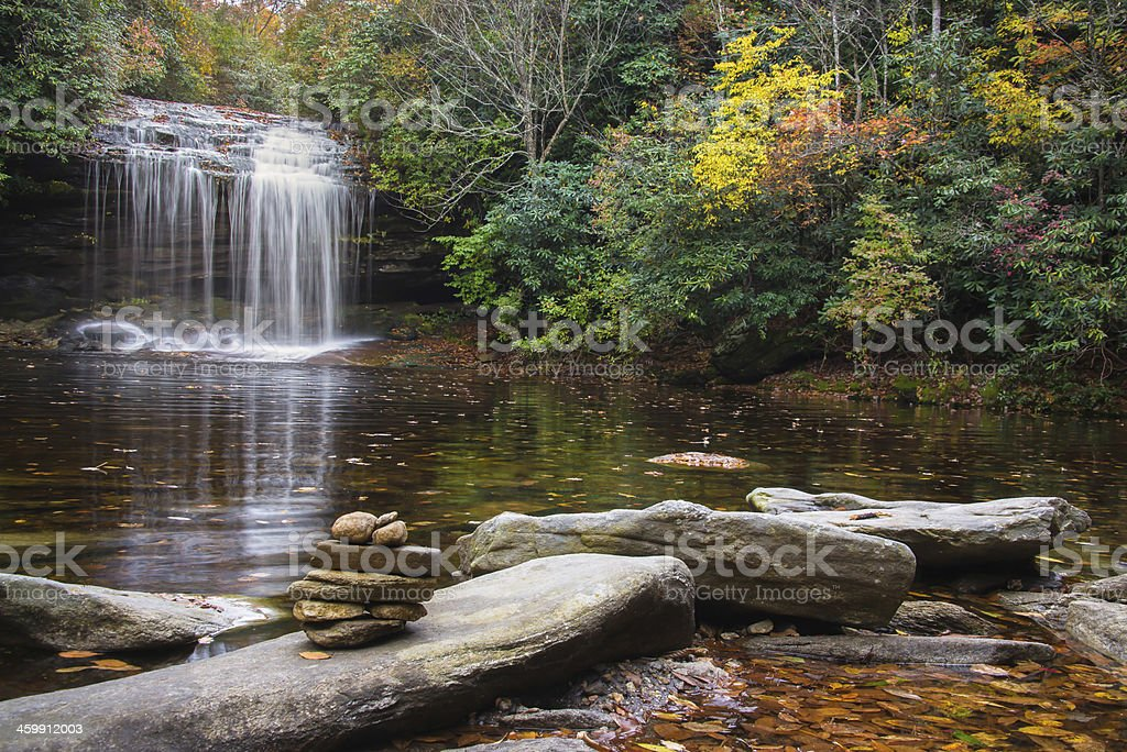 Schoolhouse Falls stock photo