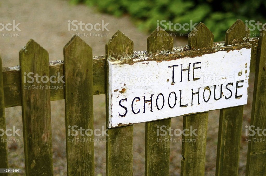 Schoolhouse Gate stock photo