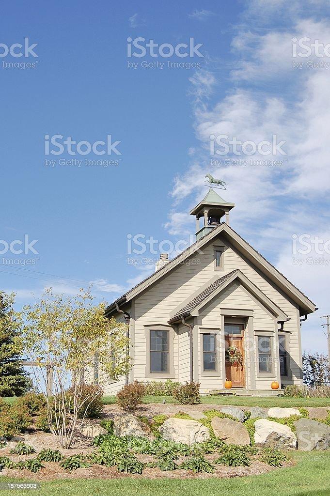 Schoolhouse stock photo