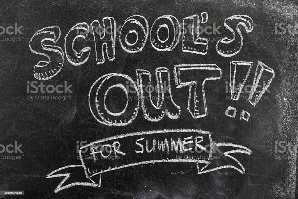 School's out stock photo