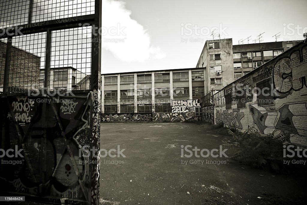 Schoolyard stock photo