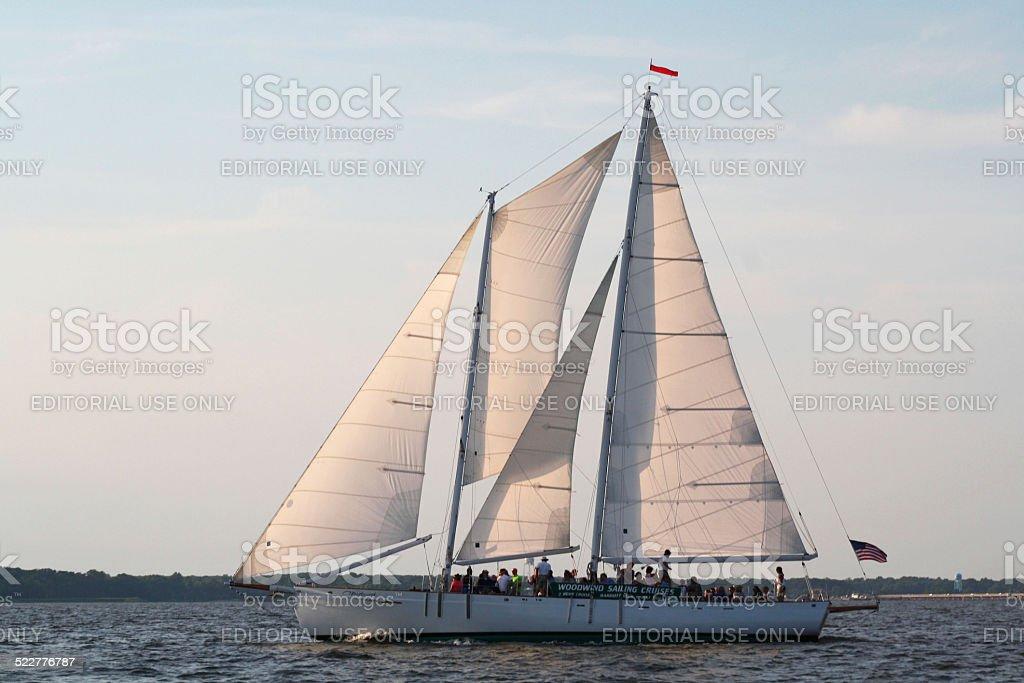 Schooner Sailing Cruise stock photo