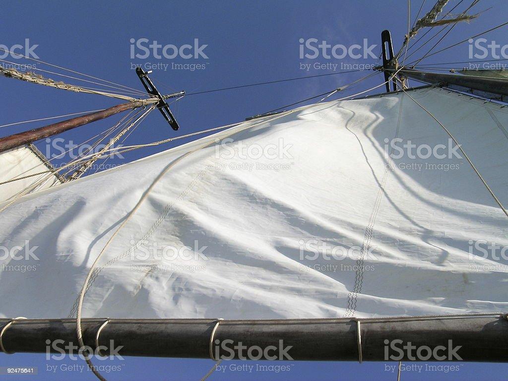 schooner sails royalty-free stock photo