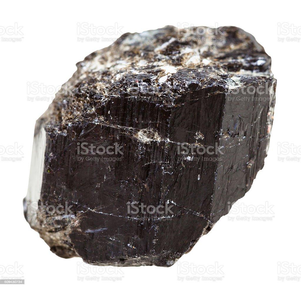Schorl (black Tourmaline) crystalline rock stock photo