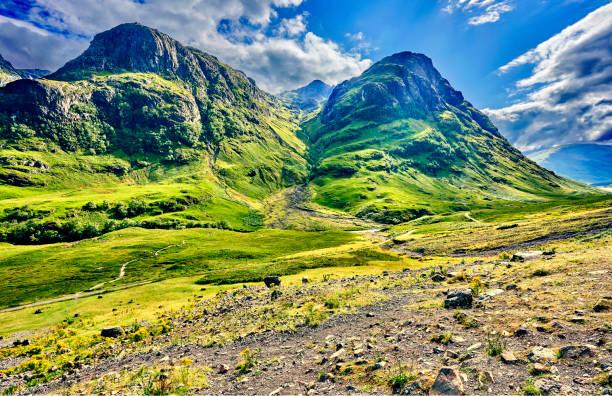 Schottish Hochland Landschaft mit Wolke am Himmel. – Foto
