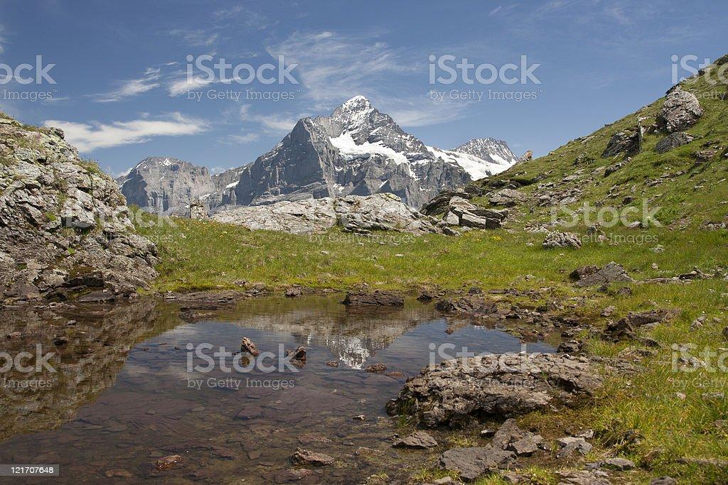 Schreckhorn in Alps, Switzerland royalty-free stock photo
