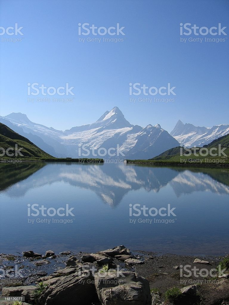 Schreckhorn Reflection royalty-free stock photo
