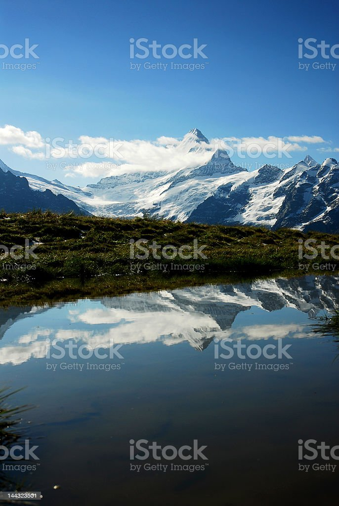 Schreckhorn swiss royalty-free stock photo