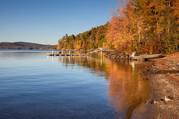 Schroon Lake Shoreline stock photo