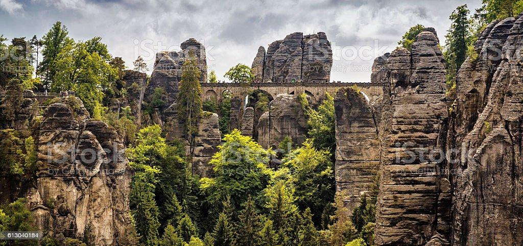 Sächsische Schweiz Bastei stock photo