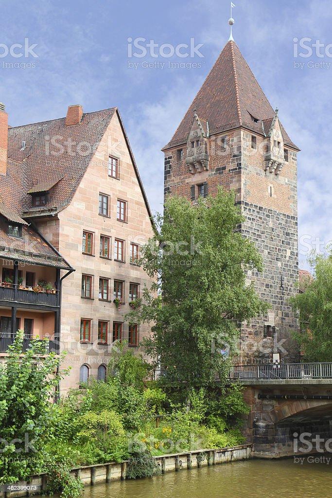 Schuldturm Tower in Nuremberg, Germany stock photo