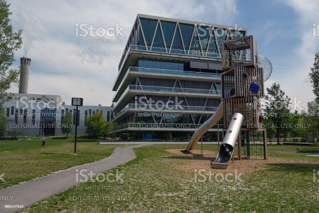 Schule Leutschenbach - 로열티 프리 0명 스톡 사진
