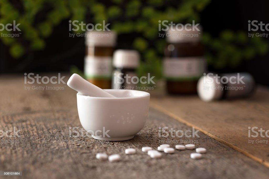 schussler salt - homeopathic alternative medicine stock photo