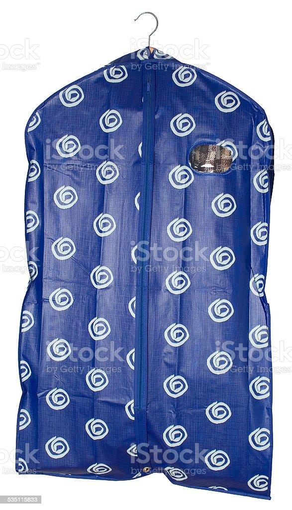 Schutzhülle für Kleidung stock photo