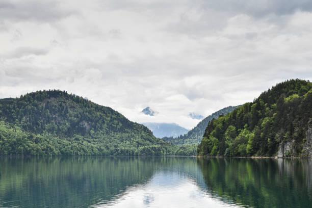Schwangau in den bayerischen Alpen und seiner Burg – Foto