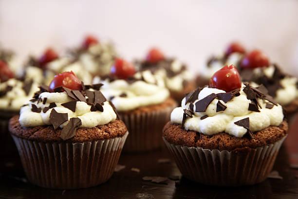 Schwarwaelder cupcakes stock photo