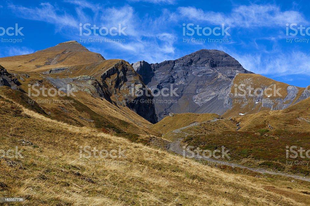 Schwarzhorn und Gemschiberg stock photo