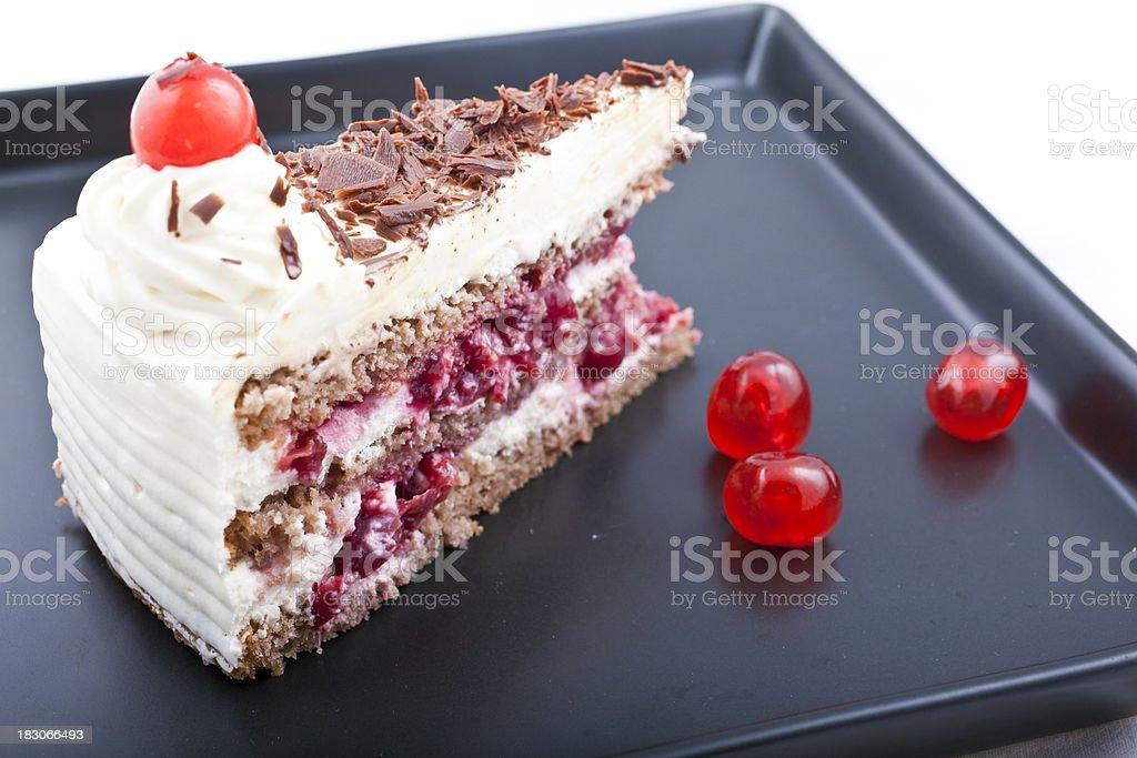 Schwarzwald cake stock photo
