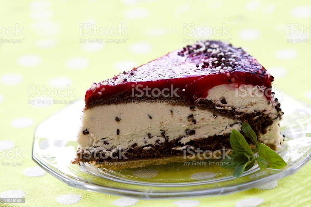 Schwarzwald cake with Cherry Fruit and Cream stock photo
