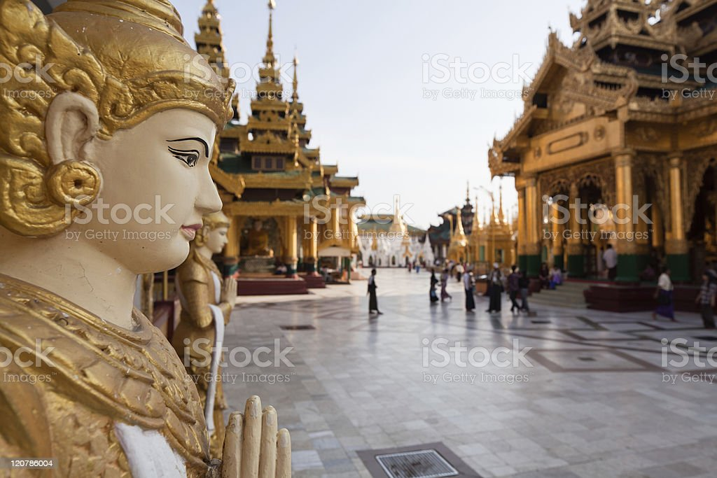 Schwedagon pagoda stock photo