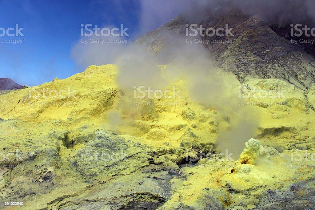 Schwefel Fumarole- White Island stock photo