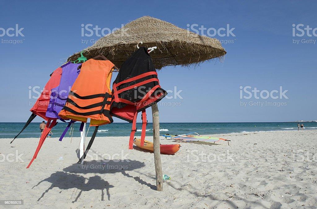 Schwimmwesten am trocknen royalty-free stock photo