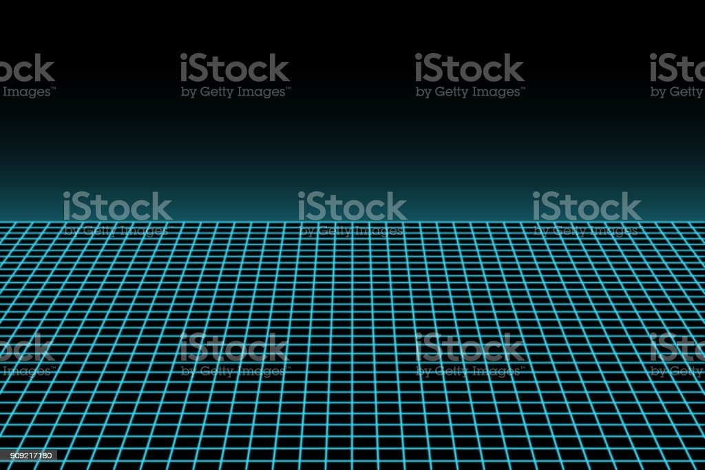 Sci Fi 3D grid from the 80s stock photo