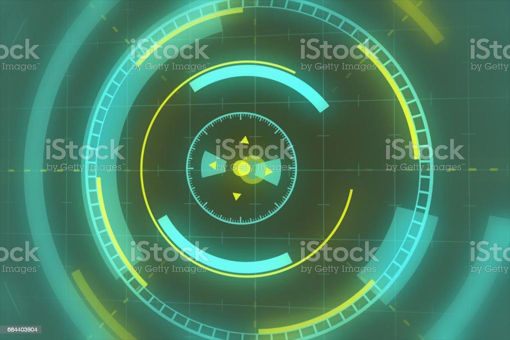 Sci fi futuristic user interface head-up display. illustration. background. stock photo